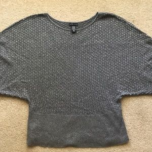 New York & Company Pewter Metallic Dolman Sweater